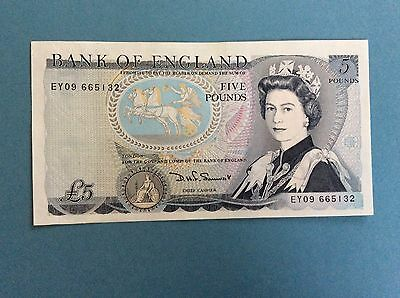 Uncirculated Five Pound Note Somerset  British Banknote 1980s
