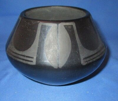 Native American San Ildefonso Black On Black Signed Marie And Julian Bowl