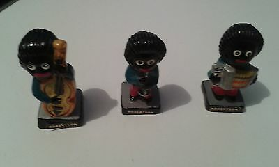 Three Robertson's Jam Hand Painted Pottery Band Figures