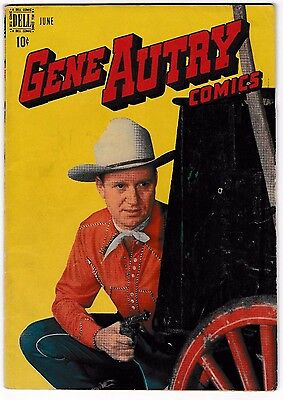 GENE AUTRY COMICS #16 (VG) Cowboy Star! Dell 1948 Classic Golden-Age Western