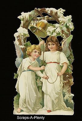 German Embossed Vintage Style Scrap Die Cut- Large Christmas Easter Angel BK5128