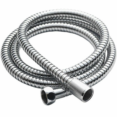 STAINLESS STEEL CHROME FLEXIBLE BATHROOM SHOWER HEAD HOSE PIPE with WASHERS GN