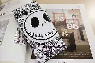 HOT! Nightmare Before Christmas Jack Face White Coin Pouch Bag Purse Wallet