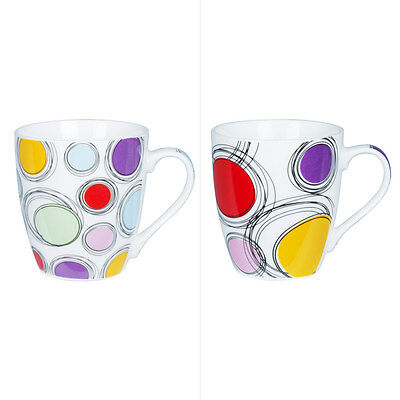 Trend'up - Tasse 23Cl Pois Couleur Assortis ( Lot De 6 )