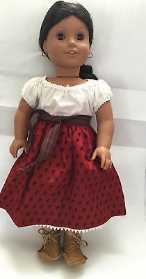 Original American Girl Doll Josefina Pleasant With Outfit, Earrings And Shoes