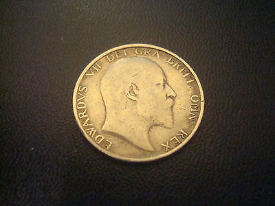 British Edwardian,Edward VII1906 Shilling .925 Silver Coin - High Grade