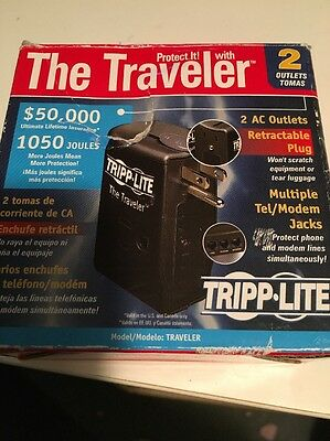 TRIPP-LITE  The Traveler 2-Outlet Surge Protector 1050 Joules NEW