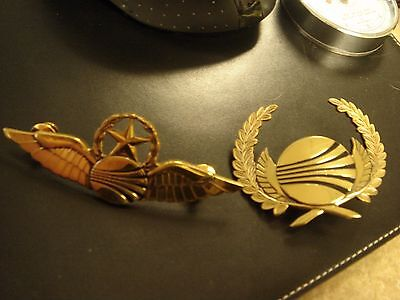 Continental Airlines Captain wing and Hat badge