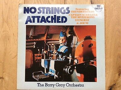 No Strings Attached, Barry Gray Orchestra vinyl EP 1981, Thunderbirds etc.