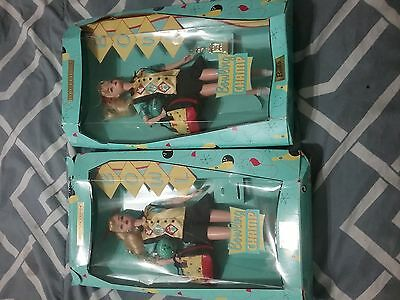 Set Of Bowling Barbies In Box With Very Damaged Boxes