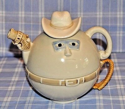 Fitz And Floyd Cowboy Tea For One Teapot