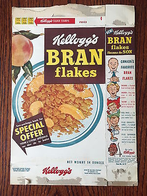 Kellogg's 1950's Bran Flakes Cereal Box Teaspoon Offer