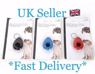 Dog Training Clicker Keyring 3 Colours Red Black Blue 6x4cm UK Seller