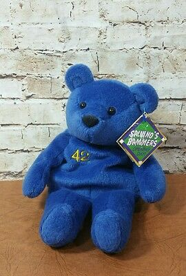 1999 Mo Vaughn #42 Salvino's Bammers Opening Day Blue Bear Tags Intact