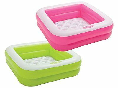 Intex Play Box Inflatable Square Baby Toddler Paddling Swimming Pool Toy 57100