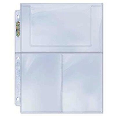"""Ultra Pro 3-Pocket Pages Sleeves For 4"""" x 6"""" Photos - Set of 10 Pages"""