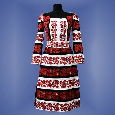 Ukrainian embroidery, embroidered dress, S - 2XL+