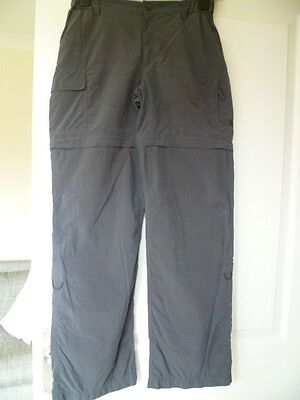 North Face Ladies Dark Grey Convertible Walking Trousers Size XS