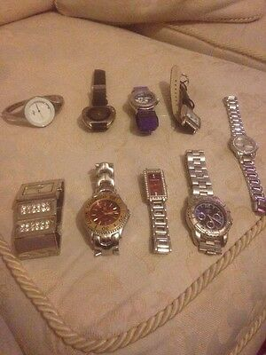 Large Quantity Of 9 Watches Spares Or Repaires