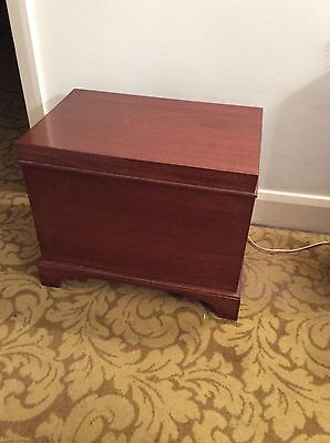 vintage ,reproduction, small trunk ,storage box ,coffee table ,solid mahogany