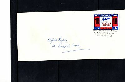 1971 Hill, Clayton & Co Courier Service FDC; Postal Strike - 18/2/1971