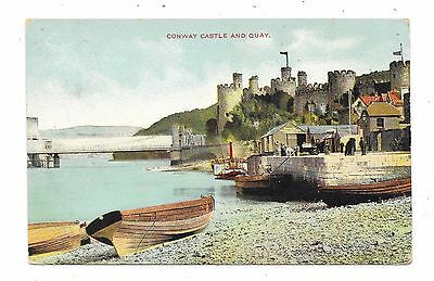 Nice Printed  Postcard Of Castle And Quay Conway Caernarvonshire Posted 1907