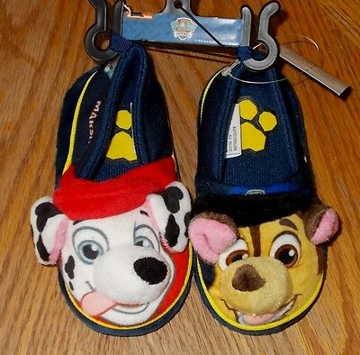 Toddler Boys Size 5/6 Nickelodeon Paw Patrol Soft-Soled Slippers NWT