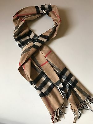 NWT 100% Authentic Burberry Giant  Check Cashmere Scarf $475