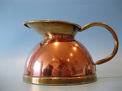 Rare Antique Handmade Copper & Brass Pitcher / Creamer Jug by Peerage England