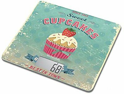Terraillon Kitchen Scale CupCakes Ultra Slim 20mm LCD Screen Glass Platform