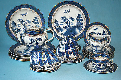 Booths ' Real Old Willow ' A8025 - Tea / Dinner Service - Made In England