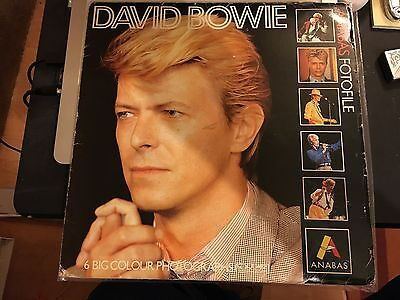 David Bowie Anabas Fotofile Lp Shaped File Of 6 1985 Printed In England.