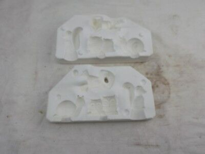 Ceramic Slip Mould, Owl snail squirel frog all in one mould, fine, small animal
