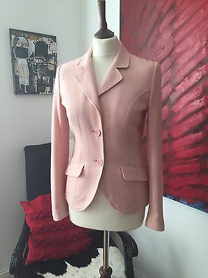 Women's Vintage Wool Blazer Size 8-10 Light Pink
