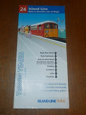 British Rail/Isle of Wight-Island Line Timetable booklet 2011