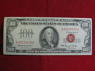 """1966 Series One Hundred Dollar """"united States Note""""  We Grade Xf"""