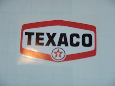 """4"""" Texaco Post War Gasoline Decal Gas And Oil Pump, Sign Wall Sticker New"""
