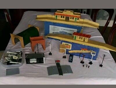 duble hornby model train buildings some rare and some home made and accessories