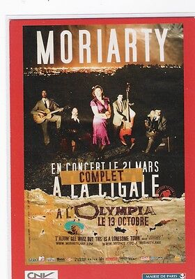 Cpm - Cart'com -  Moriarty A La Cigale