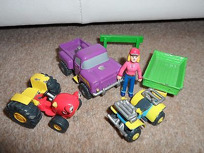 Tractor Tom Springhill Farm Diecast Toy Lot - Figures Vehicles Trailer Rare Set