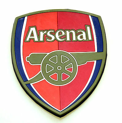 Arsenal Football Club FC Crest Shield Silicone Rubber Drink Coaster Table Red
