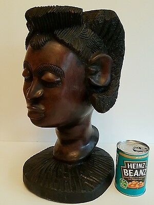 Life Size Female African Head Bust Interior Design