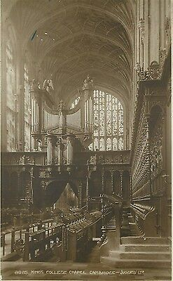 s06516 King's College Chapel, Cambridge, England RP postcard unposted
