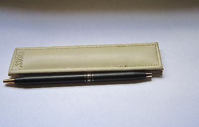 Cross Pen Black Ladies Line With Leather Pouch