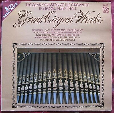2 LPs. Great Organ Works (Double Album). World of the Organ. Vinyl