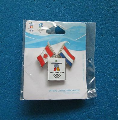 DUAL NETHERLANDS VANCOUVER 2010 OLYMPIC PARALYMPIC WINTER GAMES  PIN # s-p-46