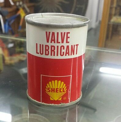 Vintage Shell Motor Oil Valve Lubricant Can Four Ounce, Mini Can