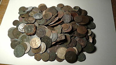 Big lot of metal detector finds from Europe - all coins
