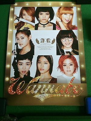 AOA – Wanna Be (100% OFFICIAL, UNFOLDED POSTER)
