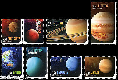 2015 Our Solar System - Set of 8 Stamps - MUH